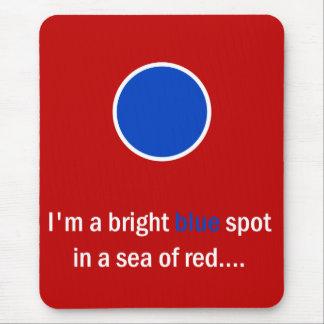 Bright Blue Spot - Democrat Mouse Pad