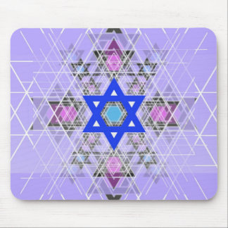 Bright Blue Star. Mouse Pad