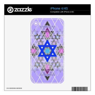 Bright Blue Star. Decal For iPhone 4