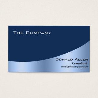 Bright Blue Steel Metal Professional Elegant Business Card