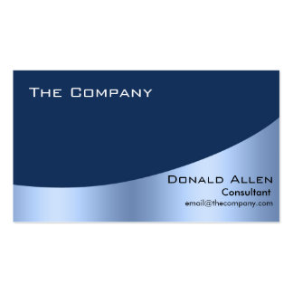Bright Blue Steel Metal Professional Elegant Double-Sided Standard Business Cards (Pack Of 100)