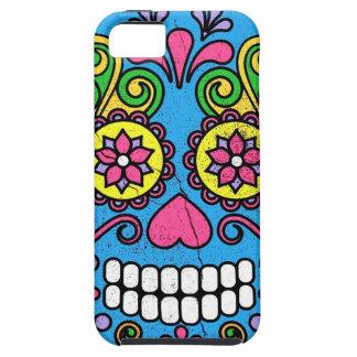 Bright Blue Sugar Skull Day of the Dead! iPhone SE/5/5s Case