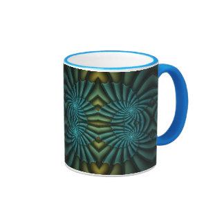 Bright Blue Tango Ringer Coffee Mug
