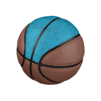 Bright Blue Texture Mini Basketball