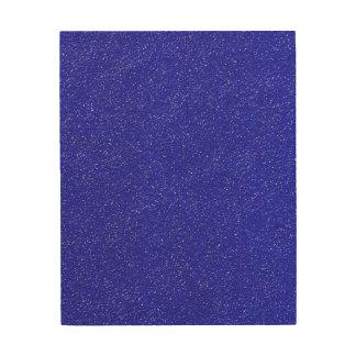 Bright Blue Textured Wood Wall Art