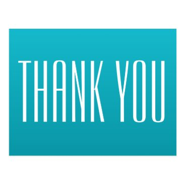 Professional Business Bright Blue Thank You Postcard