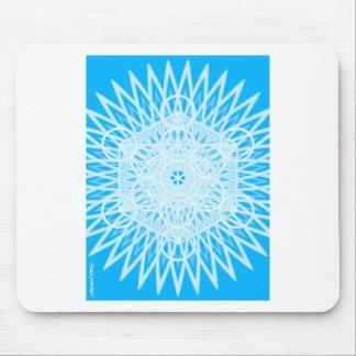 bright blue throat chakra sacred geometry mouse pad