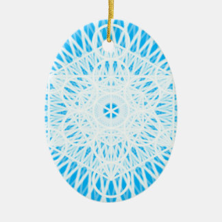 bright blue throat chakra sacred geometry christmas ornaments