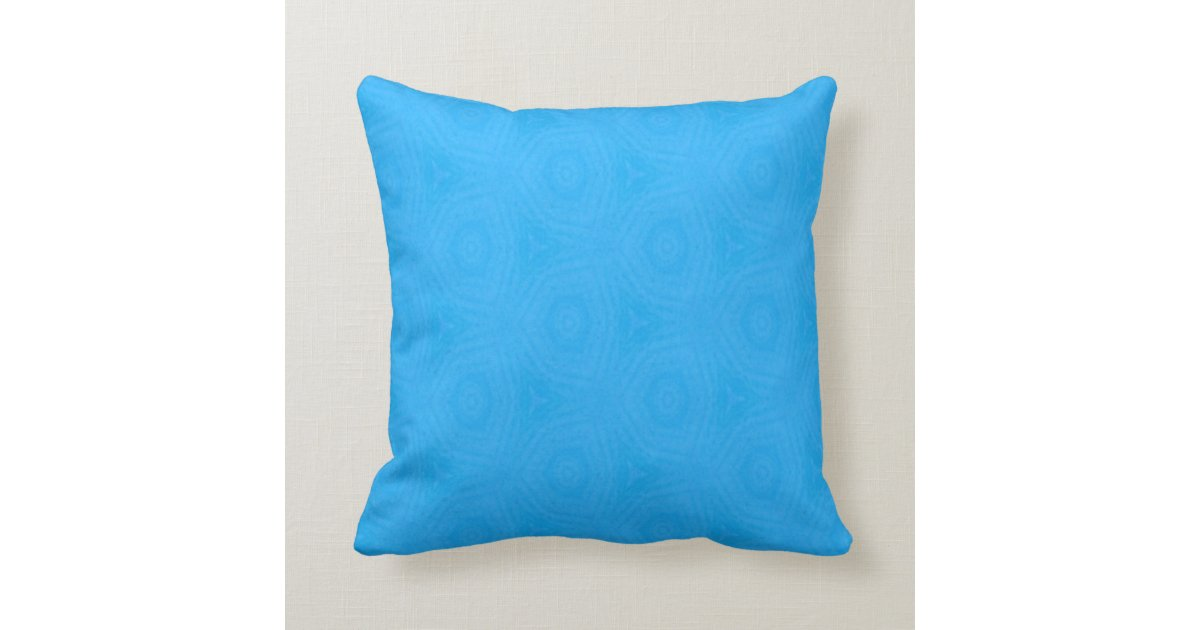 Bright Blue Decorative Pillow : Bright Blue Throw Pillow Zazzle
