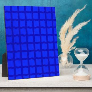 Bright Blue Tiles Plaque