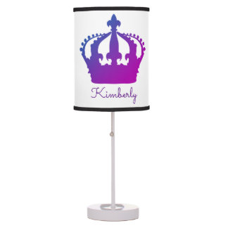 Bright Blue to Purple Crown Princess Lamp