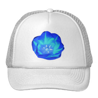 Bright Blue Tulip Hat