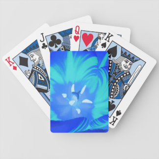 Bright Blue Tulip Playing Cards