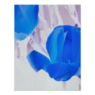 Bright Blue Tulips Card