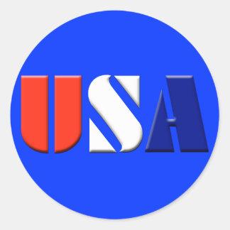 Bright Blue USA Stickers
