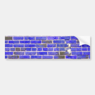 Bright Blue Vintage Brick Wall Texture Bumper Sticker