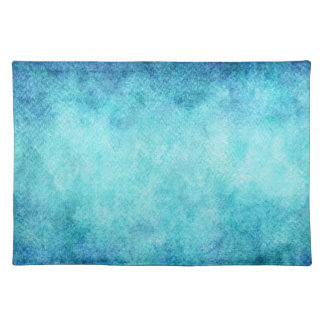 Bright Blue Watercolor Personalized Background Cloth Placemat