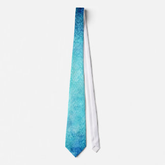 Bright Blue Watercolor Personalized Background Neck Tie