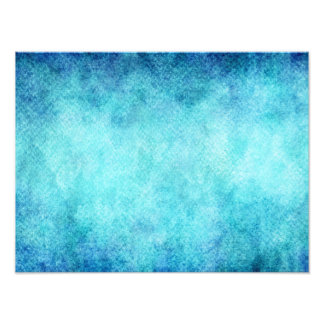 Bright Blue Watercolor Personalized Background Photo Print