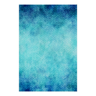 Bright Blue Watercolor Personalized Background Poster