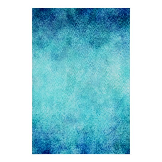 Bright Blue Watercolor Personalized Background Poster Zazzle
