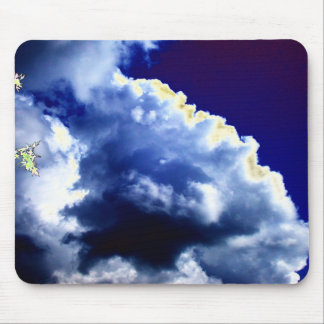 Bright Blue&White Cumulus congestus and Glowing Br Mouse Mat