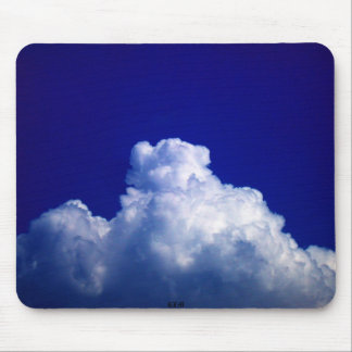 Bright Blue&White Distant Cumulus congestus by ... Mouse Pad