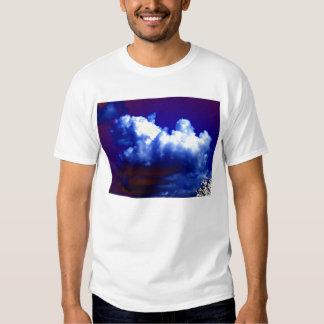 Bright Blue&White Maroon Bellied Cumulus congestus Shirt