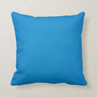 Bright Blue with Grainy Texture Throw Pillow
