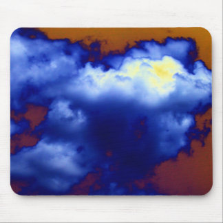 Bright Blue&Yellow Rising Cumulus by KLM Mouse Pad