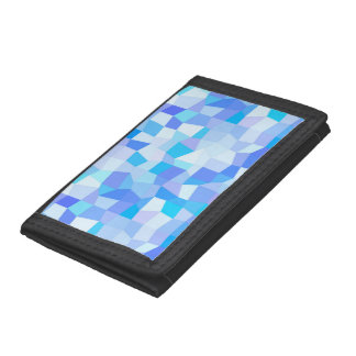 Bright Blues Mosaic Trifold Wallet