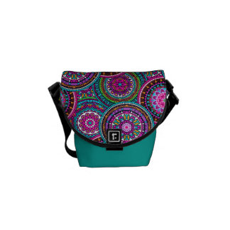 Bright Bohemian Boho Hippy Chic Pattern Messenger Bag