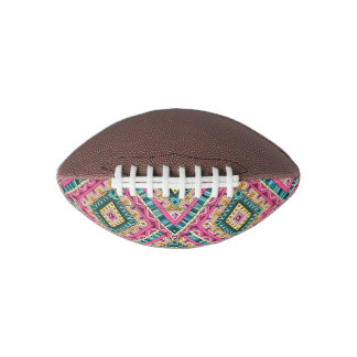 Bright Boho Colorful abstract tribal pattern Football