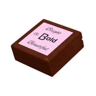 Bright Bold Beautiful inspire pink Jewelry Box
