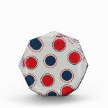 Bright Bold Big Red Blue Polka Dots Pattern Award