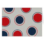 Bright Bold Big Red Blue Polka Dots Pattern Greeting Cards