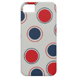Bright Bold Big Red Blue Polka Dots Pattern iPhone 5 Case
