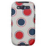 Bright Bold Big Red Blue Polka Dots Pattern Galaxy S3 Covers