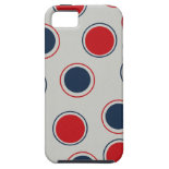 Bright Bold Big Red Blue Polka Dots Pattern iPhone 5 Cover