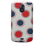 Bright Bold Big Red Blue Polka Dots Pattern Samsung Galaxy Nexus Covers