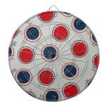 Bright Bold Big Red Blue Polka Dots Pattern Dartboards