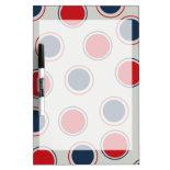 Bright Bold Big Red Blue Polka Dots Pattern Dry-Erase Board