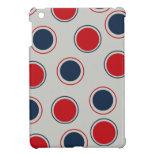 Bright Bold Big Red Blue Polka Dots Pattern Case For The iPad Mini