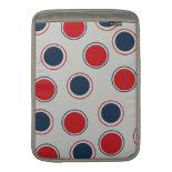 Bright Bold Big Red Blue Polka Dots Pattern MacBook Air Sleeves