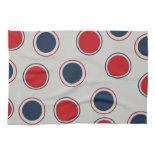 Bright Bold Big Red Blue Polka Dots Pattern Hand Towel