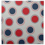 Bright Bold Big Red Blue Polka Dots Pattern Cloth Napkin