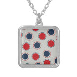 Bright Bold Big Red Blue Polka Dots Pattern Pendants