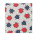 Bright Bold Big Red Blue Polka Dots Pattern Memo Note Pads