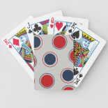 Bright Bold Big Red Blue Polka Dots Pattern Deck Of Cards