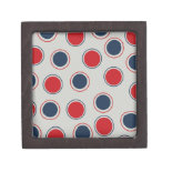 Bright Bold Big Red Blue Polka Dots Pattern Premium Gift Boxes